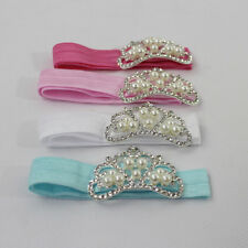Children Newborn Baby Toddler Headband Pearl Crown Hair Band Headdress Headwear