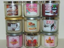 New Bath & Body Works White Barn 3 Wick Candle 14.5 oz You Choose Test Scent