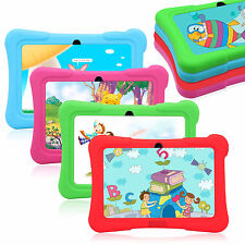7'' Quad Core 8GB Tablet PC Android 4.4 KitKat Dual Camera WiFi Bundle for Kids