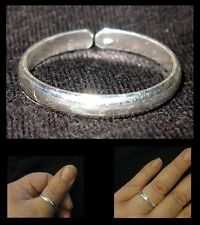 925 Silver Ring / Thumb Ring - 3.5mm Plain Band - ADJUSTABLE : Small Med Large