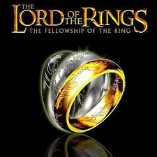 "1PC Lord of the Rings ""The One Ring"" Gold/Black/Silver Ring  Valentine's Gift"