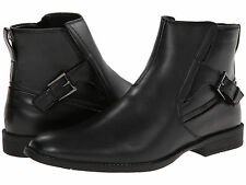 Calvin Klein Men's Shoes Winston Ankle Boot Leather Medium (D) Black F0610