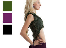 HIGH LOW LACE BELLY PIXIE TOP steampunk psy Burning Man hoop dance 8 10 12 14