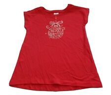 Girls size 1 2 3 4 or 5 Red MERRY Christmas BAUBLE print Tee t-shirt NEW Target