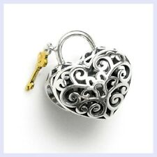 STR Silver Love Heart Lock Gold Key Valentine Bead for European Charm Bracelet