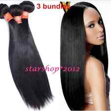 3 Bundles 150g 7A Unprocessed Indian Virgin Human straight Hair Extensions Weave