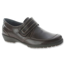 SPRING STEP Womens Darby Slip On Velcro Monk Strap Shoes Brown Leather DARBY-BR