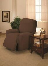 BROWN RECLINER COVER--ALSO COMES IN SOFA COUCH LOVESEAT CHAIR FUTON SLIPCOVERS