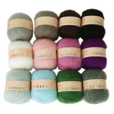 Wholesale Skein Lot Angola Mohair Cashmere Wool Knitting Yarn Craft 12 Colors