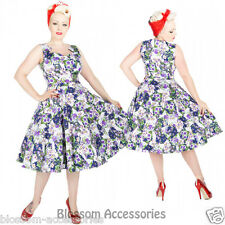 RKH79 Hearts & Roses Floral Summer Party Rockabilly Evening Dress 50s Retro Plus