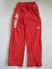 Yonex Men's Red Tracksuit Pants Trousers - Brand New
