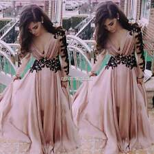 Women Girl Long Lace/Chiffon Evening Formal Party Cocktail Prom Gown Maxi Dress