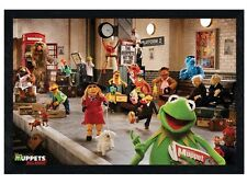 New Black Wooden Framed The Muppets Most Wanted Cast Poster