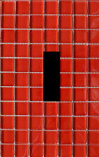 Red Mosaic Tile Pattern Design Design Home Decor LIGHT SWITCH PLATE Wall Art