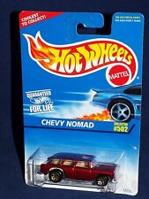 Hot Wheels 1996 Mainline Release #502 Chevy Nomad Mtflk Burgundy w/ Solid Wheel