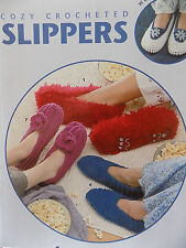 Crochet Pattern Books for Slippers in all sizes Children and Adult