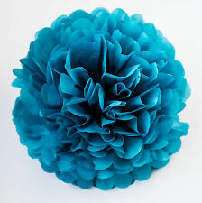 PEACOCK color tissue paper PomPom - party pompoms Hanging
