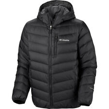 Columbia men winer hooded Down Omni-Heat coat jacket S M L 2XL XL  ski Black new