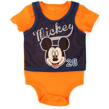 Mickey Mouse Baby Bodysuit Sports Pinnie 05C2360MM 0/3M 3/6M 6/9M Infant
