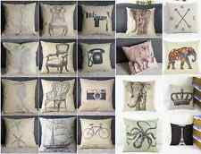 Vintage Simple linen Throw Pillow Cases Home Decorative Cushion Cover