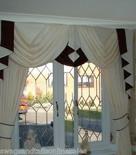 """LUXURY SWAGS AND TAILS + CURTAINS SETS, FITS WINDOWS 45-60"""" (115-152cm) WIDTHS"""
