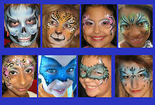 Reusable face painting stencil