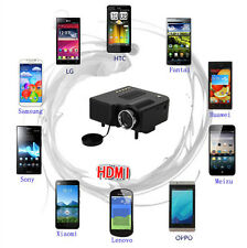 New Mini 1080P HD Multimedia LED Projector Home Cinema AV TV VGA HDMI USB SD IFA