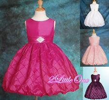 Diamant Wedding Flower Girl Formal Dress Pageant Party rhinestone Size 2T-12 083
