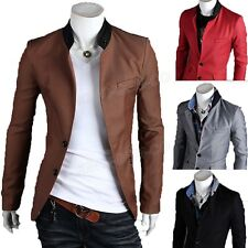 Luxury Men's Slim Fit Two Button Stylish Business Casual Blazer Jacket Suit Coat