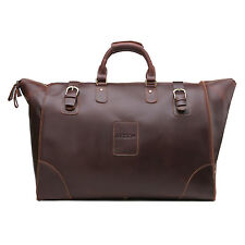 REGEM Men's Real Leather Gym Duffle Travel Luggage Bag Carry-On Tote Suitcase