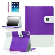 For Apple iPad 2 3 4 mini Air - Hybrid Premium Leather Smart Case Purple