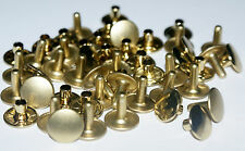 25 TWO PART STRONG  DOUBLE CAP RIVETS  11mm/12mm  BRASS - NICKEL - BLACK