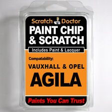 VAUXHALL / OPEL AGILA TOUCH UP PAINT Chip Scratch Car Repair Kit . 2006 - 2012