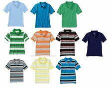 NEW Faded Glory Boys' Stripe & Solid Short Sleeve Polo Shirt S M L XL XXL