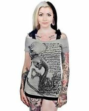 Too Fast Annabel Bow Love Is... Punk Rock Gothic Emo Scene Skull T Shirt S-Xl