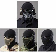Tactical Half Face Protective Steel Mesh Mask for Airsoft Paintball & Hunting