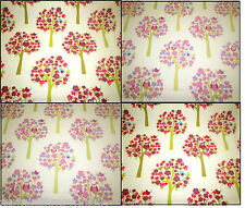 ☆ Hoots Brights / Pink Designer Curtain Fabric Roll £9.99 mt Free Post☆