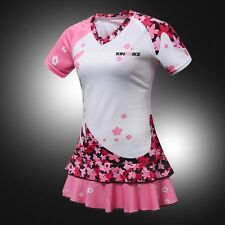 Summer cherry Women's Cycling Swing skirt Bike Sportwear Bicycle Jersey dress