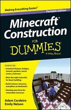 NEW Minecraft Construction For Dummies by Cordeiro BOOK (Paperback) Free P&H