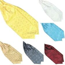 Ascot Tie Cravat Mens Fashion Neck Tie Satin Scarf Self Tie Wedding Scarf J98