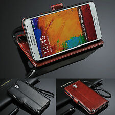 Luxury Flip Leather Wallet Card Photo Slot Stand Case Cover For Moblie Phones