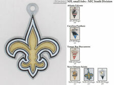 NFL team logo fobs (NFC South), various teams & chain finishing options
