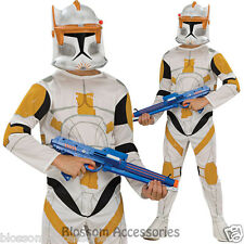 CK363 Clone Trooper Commander Cody Star Wars Costume Boys Fancy Dress Up Costume