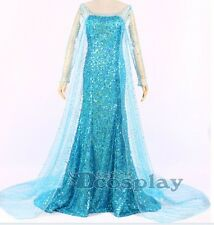 Princess Elsa Adult Cosplay Dress Party costume