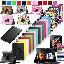 "360 Rotating Magnetic PU Leather Case Cover For Amazon Kindle Fire HD 7"" 2012"