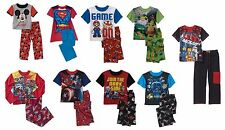 NEW Boys License 2 PC Short Sleeve Pajama PJ Mario Superman TMNT Marvel Lego etc