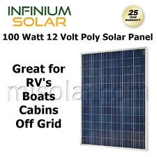 SOLAR PANEL 10W 20W 50W 100 WATT 12V Volt Solar Cells RV BOAT OFF GRID POLY