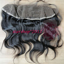 "13""x4"" Brazilian Virgin human Hair Lace frontal Closure Body wave Hair Freestyle"