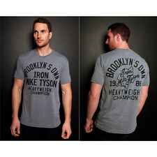 Roots of Fight Mike Tyson Brooklyn's Own 1986 T-Shirt - Gray