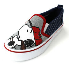 Peanuts Snoopy Boys Navy Canvas Sneakers Shoes PES701 5 6 7 8 9 10